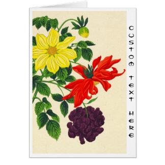 Flores japonesas orientales de las dalias de tarjeta pequeña