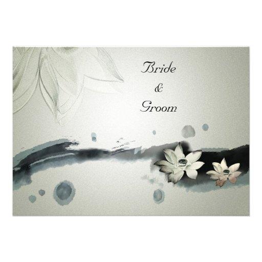 Flores japonesas que casan la invitación
