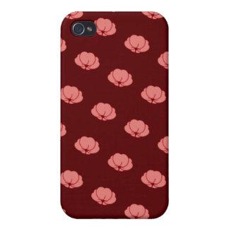 Flores japonesas rosadas del crisantemo iPhone 4 protectores