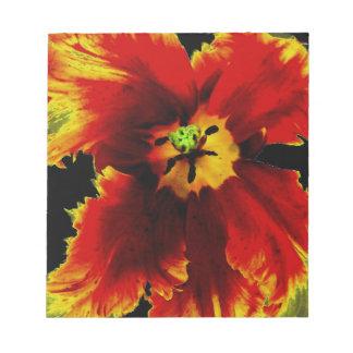"""Flores, jardín, 5,5"""" x 6"""" libreta - 40 páginas bloc de papel"""