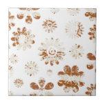 Flores lamentables teja  ceramica