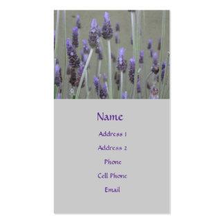 flores lavendar - tarjetas de visita