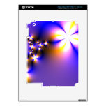 Flores ligeras del fractal iPad 3 pegatinas skins