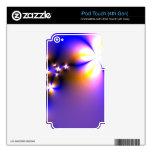 Flores ligeras del fractal iPod touch 4G skins
