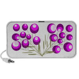 Flores lila portátil altavoces