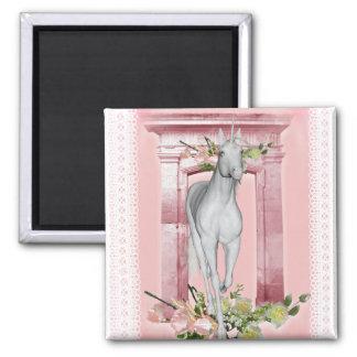 Flores lindas 1 del unicornio iman para frigorífico