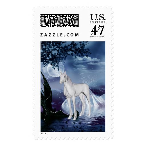 Flores lindas 1 del unicornio sellos postales