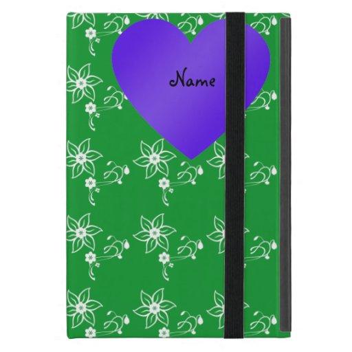 Flores lindas conocidas de encargo del verde de la iPad mini cárcasas