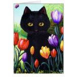 Flores lindas Creationarts de los tulipanes del ar Tarjetón