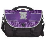 Flores lindas de la púrpura del elefante bolsas para portatil