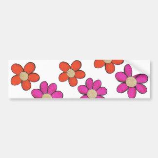 Flores lindas pegatina para auto