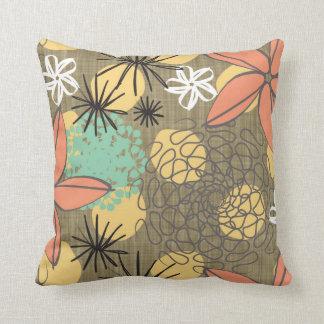 Flores-Linen Throw Pillow