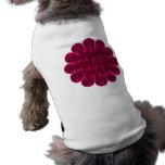 Flores locas camisas de mascota