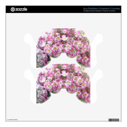 Flores macras rosadas calcomanía para mando PS3