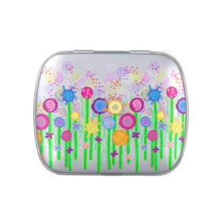 Flores mágicas latas de dulces