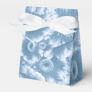 flores magníficas, damasco, azul caja para regalos de fiestas