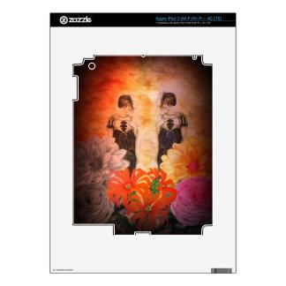 Flores magníficas del vintage de la reflexión iPad 3 pegatina skin