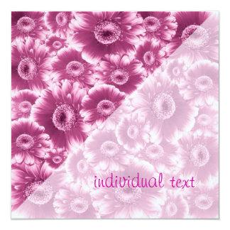 """flores magníficas, FORMA del damasco Invitación 5.25"""" X 5.25"""""""