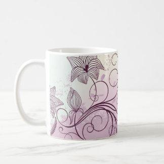 Flores marrón - taza - 1