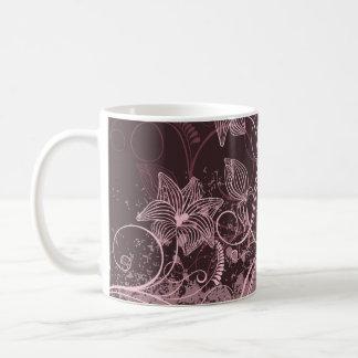 Flores marrón - taza - 1B