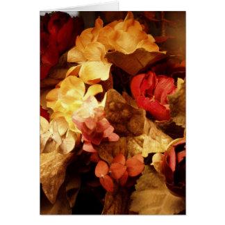 Flores mezcladas tarjeta de felicitación