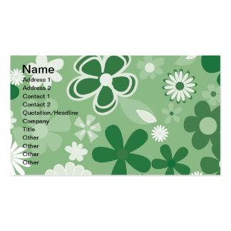 Flores mezcladas verdes tarjetas de visita