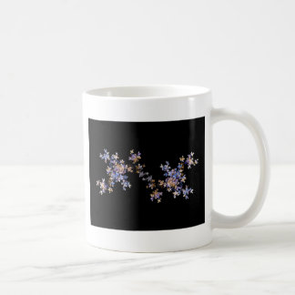 Flores minúsculas del arte del fractal taza de café
