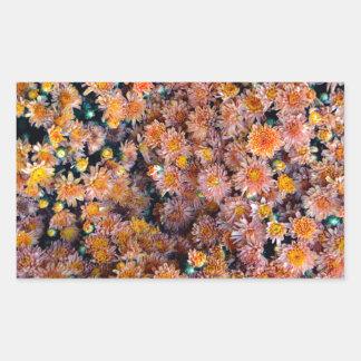 Flores minúsculas (regalo) pegatina rectangular