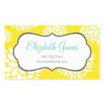 Flores modernas amarillas plantilla de tarjeta de negocio