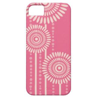 Flores modernas de los puntos Casamata rosada de iPhone 5 Carcasas