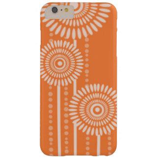 Flores modernas de los puntos: Naranja Funda Para iPhone 6 Plus Barely There
