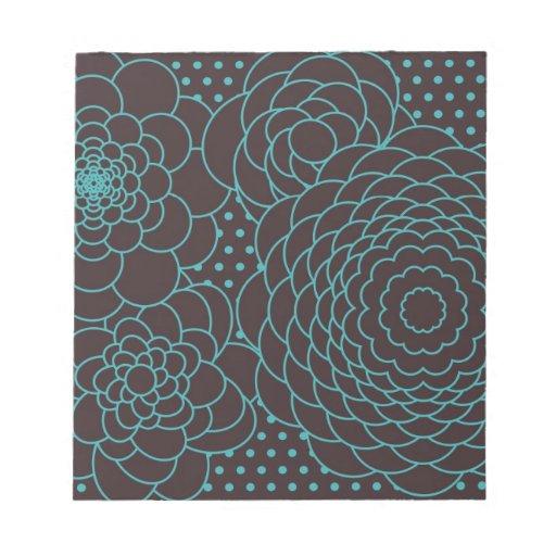 Flores modernas del extracto del trullo blocs de notas