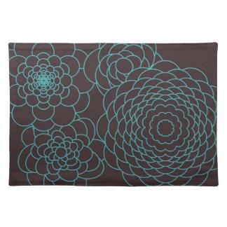 Flores modernas del extracto del trullo manteles