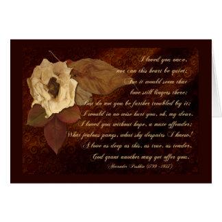 Flores muertas para a más allá del amor felicitación