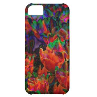 Flores multicoloras en su cubierta del iPhone 5C Funda Para iPhone 5C