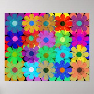 flores múltiples póster