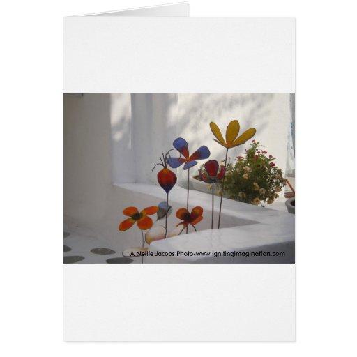 Flores-Mykonos, Grecia Felicitacion