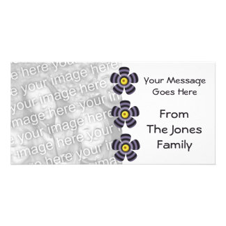 flores negras amarillas tarjetas personales con fotos