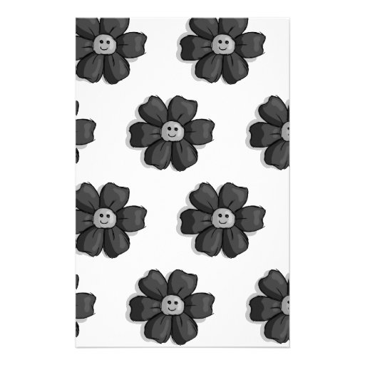 Flores negras papelería de diseño