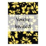 Flores negras y amarillas