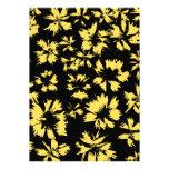 Flores negras y amarillas comunicado