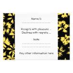 Flores negras y amarillas comunicado personal