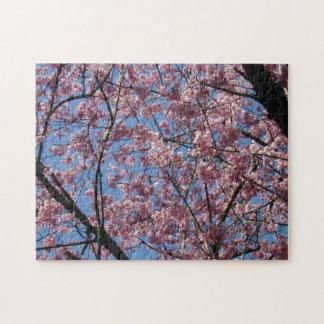 Flores o flores rosados del cerezo rompecabeza con fotos