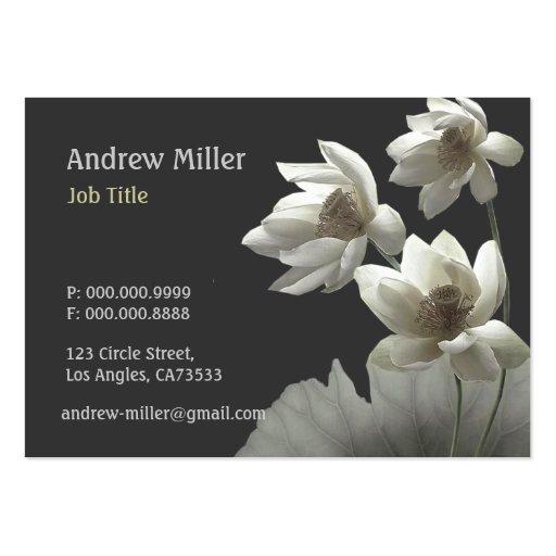 Flores orientales artísticos Waterlilies de Lotus Plantilla De Tarjeta De Negocio