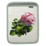 Flores - palidezca - geranio rosado funda para iPads