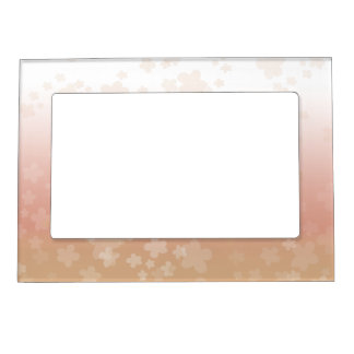 Flores pálidos marcos magneticos de fotos