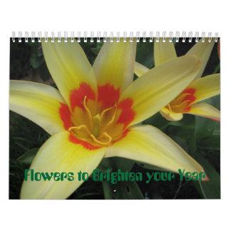 Flores para aclarar su año calendario de pared