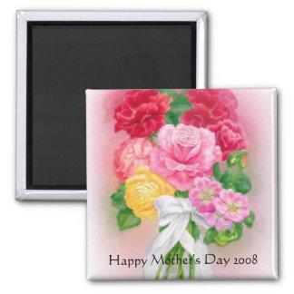 Flores para el imán del día de madres