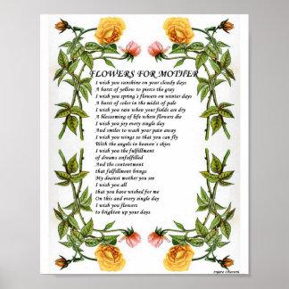 Flores para el regalo del arte de Poster_Vintage d Impresiones