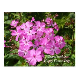Flores para la abuela el día de la flor tarjeta postal